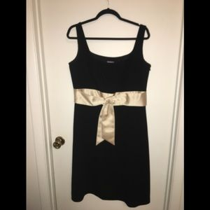 Ann Taylor's Black/Tan Semi-Formal Cocktail Dress